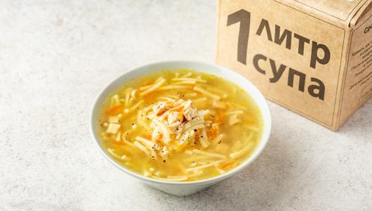 Суп «Куриный» с домашней лапшой, 1 кг с бесплатной доставкой на дом из «ВкусВилл» | Москва и область